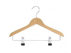 platte hanger blank beukenhout 32 cm dikte 10 mm knijpers op 4 cm hoogte