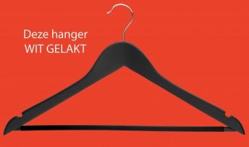 gevormde hanger wit gelakt lotushout 44 cm met antislip broeklat en inkepingen