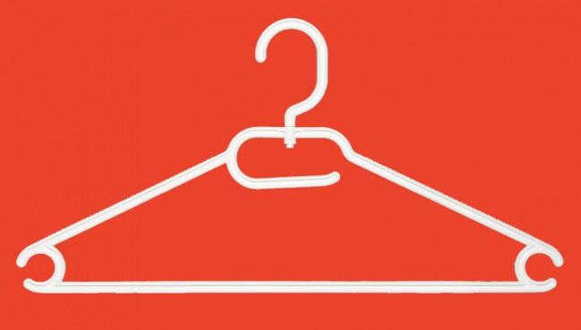 1036 wit 41 cm 100 stuks standaard hangers in kunststof categorie 235 n